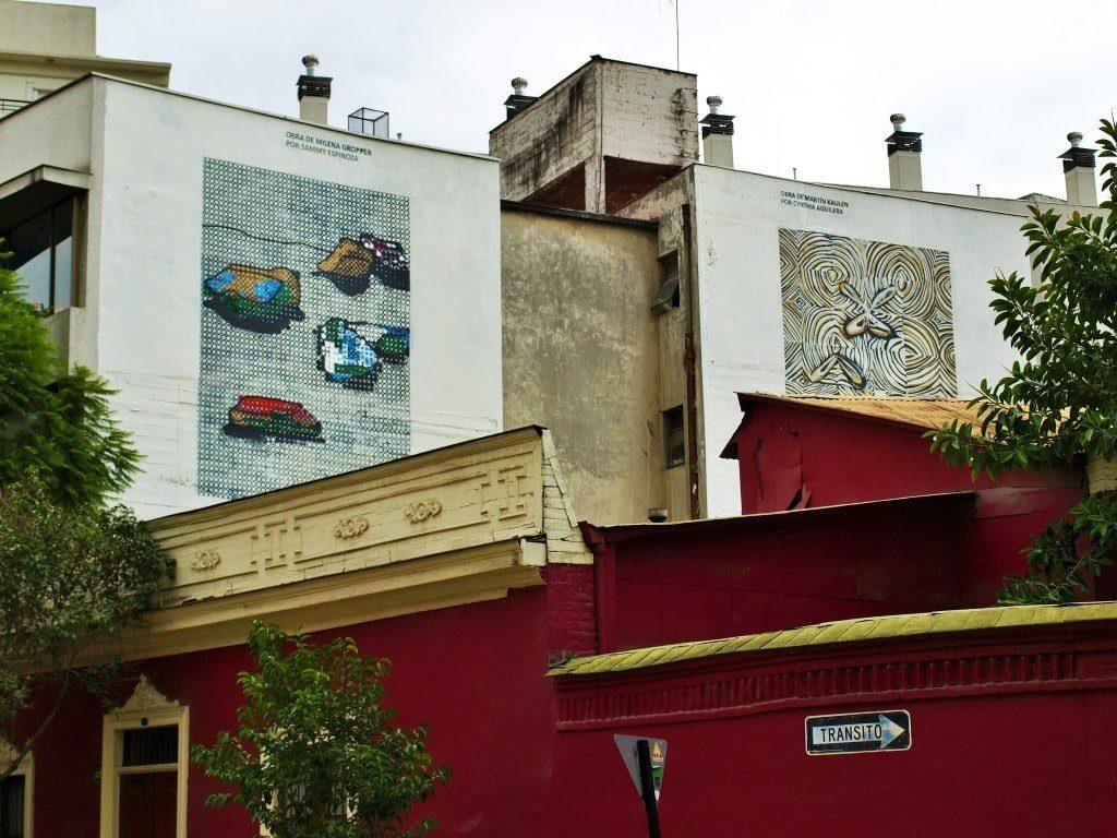 Murales auspiciados en Lastarria. / © A. F. Reca / Ruta-B