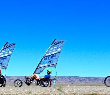 Por la Patagonia en whikes: El viento no siempre está a favor
